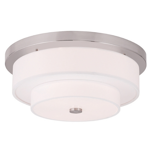 Livex Lighting Livex Lighting Meridian Brushed Nickel Flushmount Light 50865-91