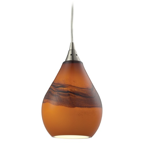Elk Lighting Elk Lighting Dunes Satin Nickel Mini-Pendant Light with Bowl / Dome Shade 31617/1