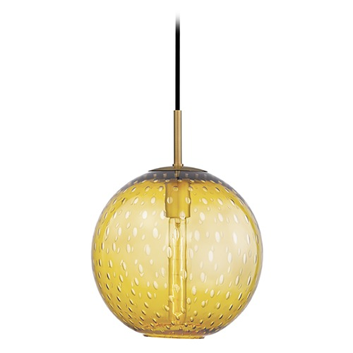 Hudson Valley Lighting Hudson Valley Lighting Rousseau Aged Brass Pendant Light with Globe Shade 2010-AGB-LA