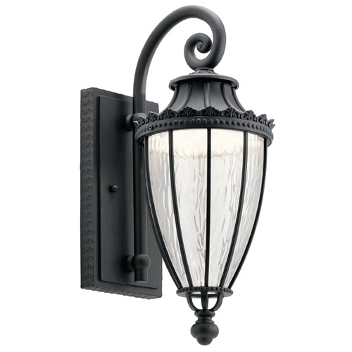Kichler Lighting Kichler Lighting Wakefield Textured Black LED Outdoor Wall Light 49751BKTLED