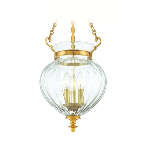 Hudson Valley Lighting Semi-Flushmount Light with Clear Glass in Aged Brass Finish 782-AGB