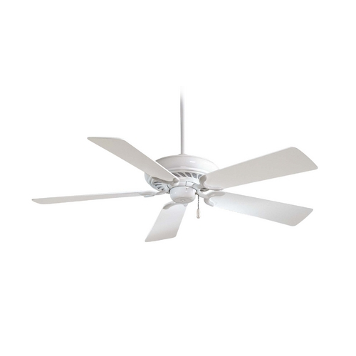 Minka Aire 52-Inch Ceiling Fan Without Light in White Finish F568-WH