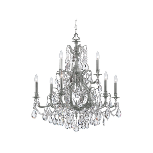 Crystorama Lighting Crystal Chandelier in Pewter Finish 5579-PW-CL-S
