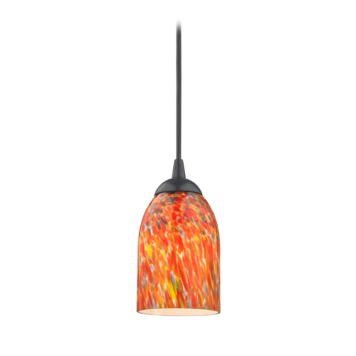Design Classics Lighting Modern Mini-Pendant Light with Art Glass 582-07 GL1012D