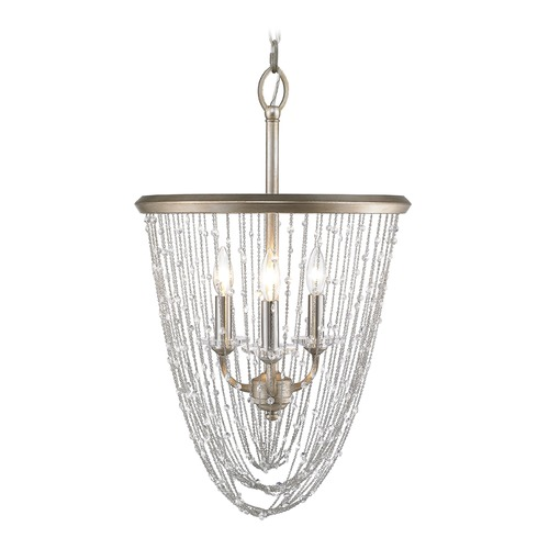 Golden Lighting Golden Lighting Sancerre White Gold Pendant Light 1425-3P WG