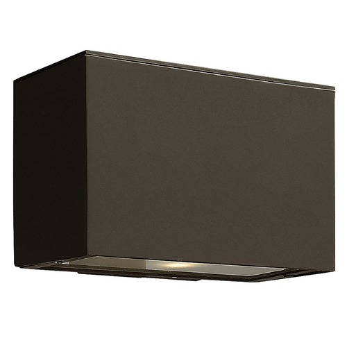 Hinkley Lighting Modern LED Outdoor Wall Light with Etched in Bronze Finish 1646BZ-LED