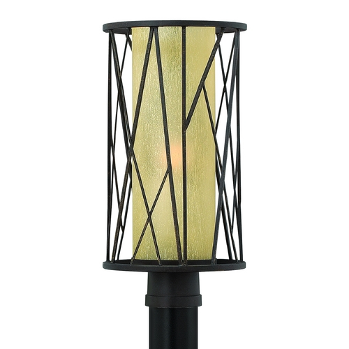 Hinkley Lighting Post Light with Amber Glass in Regency Bronze Finish 1151RB