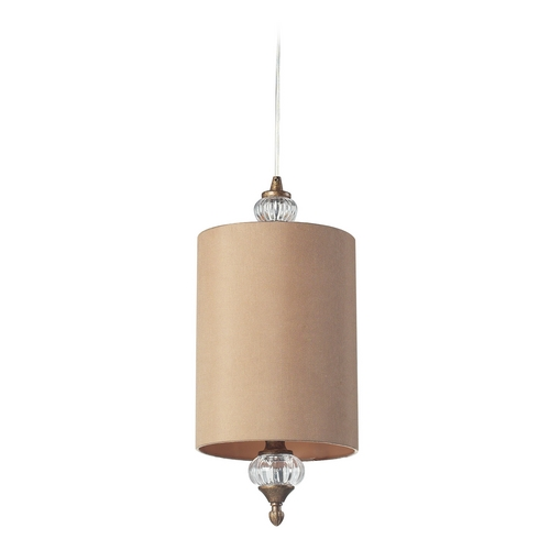 Elk Lighting Mini-Pendant Light with Beige / Cream Shade - Includes Recessed Adapter Kit 31312/1-LA