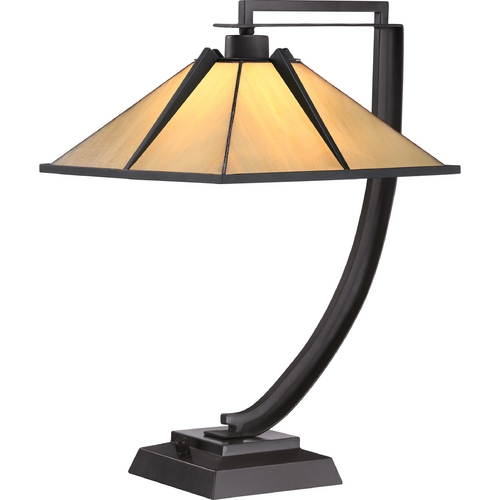Quoizel Lighting Quoizel Tiffany Western Bronze Table Lamp with Square Shade TF1791TWT