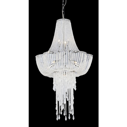 Lite Source Lighting Lite Source Paaveli Ii Chrome Pendant Light EL-10125
