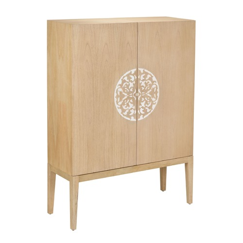 Sterling Lighting Cabinet 2 Doors With Resin Accent 150-026