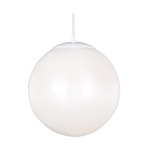Sea Gull Lighting Sea Gull Lighting Hanging Globe White LED Pendant Light with Globe Shade 602491S-15