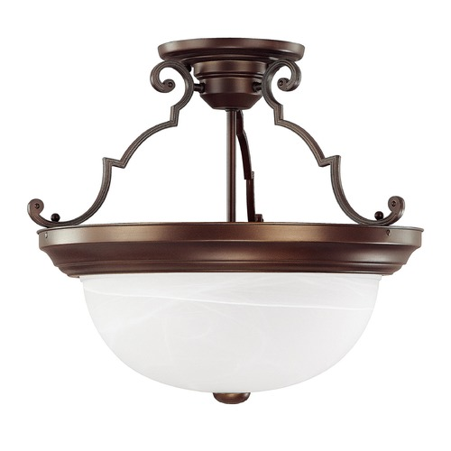 Capital Lighting Capital Lighting Burnished Bronze Semi-Flushmount Light 2717BB