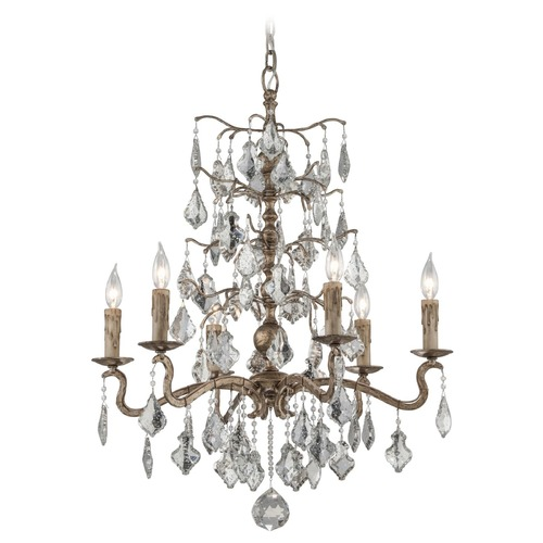 Troy Lighting Troy Lighting Siena Vienna Bronze Crystal Chandelier F4744