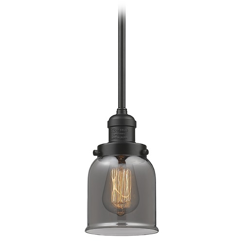 Innovations Lighting Innovations Lighting Small Bell Oil Rubbed Bronze Mini-Pendant Light with Bell Shade 201S-OB-G53