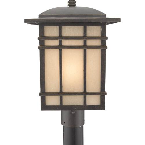 Quoizel Lighting Post Light with Amber Glass in Imperial Bronze Finish HC9011IBFL