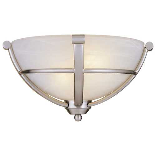 Minka Lavery Sconce Wall Light in Brushed Nickel - Etched Marble Glass 1420-84