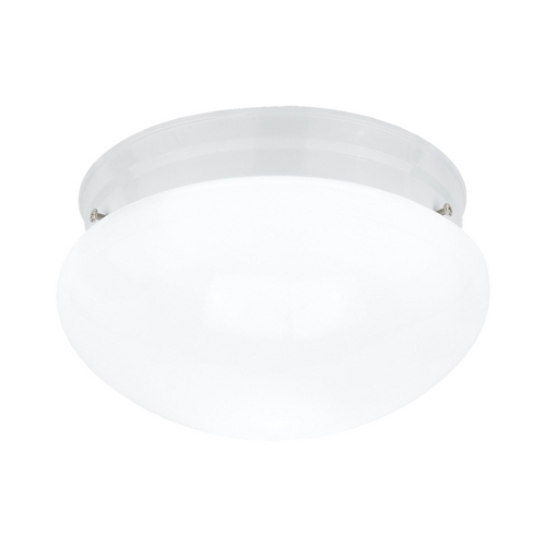 Sea Gull Lighting Flushmount Light with White Glass in White Finish 5326-15