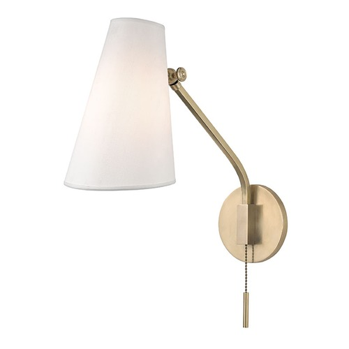Hudson Valley Lighting Hudson Valley Patten Aged Brass Switched Pull Chain Sconce 6341-AGB