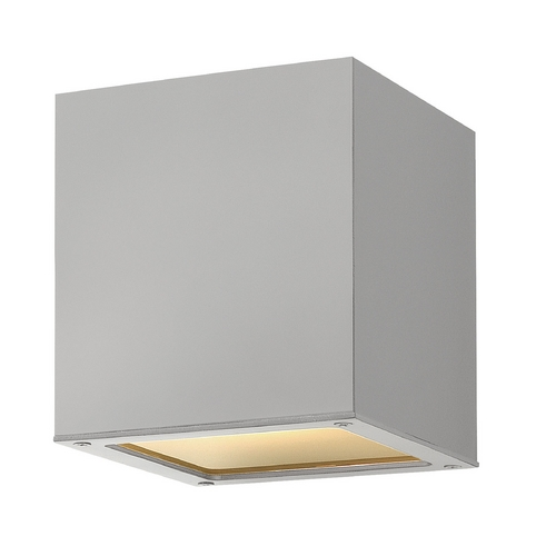Hinkley Lighting Modern Close To Ceiling Light with White Glass in Titanium Finish 1763TT-GU24
