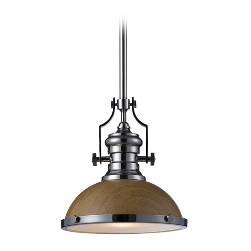 Elk Lighting LED Pendant Light in Polished Nickel Finish 66564-1-LED