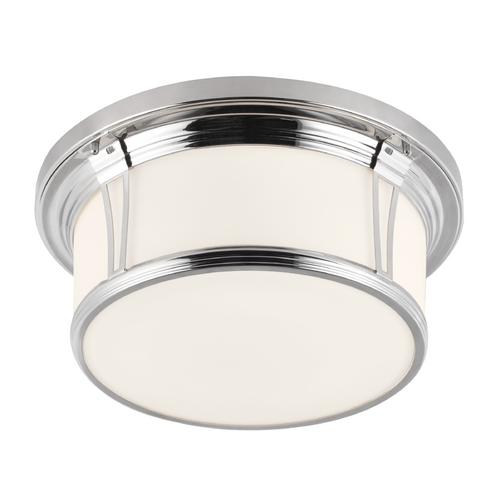 Feiss Lighting Feiss Lighting Woodward Polished Nickel Flushmount Light FM389PN