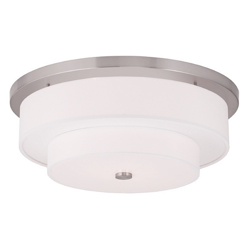 Livex Lighting Livex Lighting Meridian Brushed Nickel Flushmount Light 50866-91
