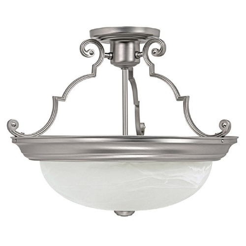 Capital Lighting Capital Lighting Matte Nickel Semi-Flushmount Light 2717MN