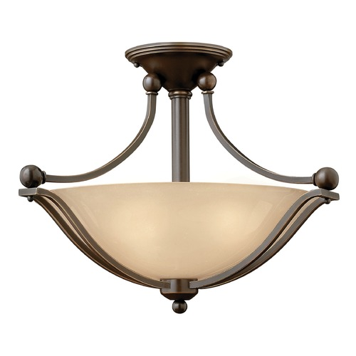 Hinkley Lighting Hinkley Lighting Bolla Olde Bronze Semi-Flushmount Light 4651OB-GU24