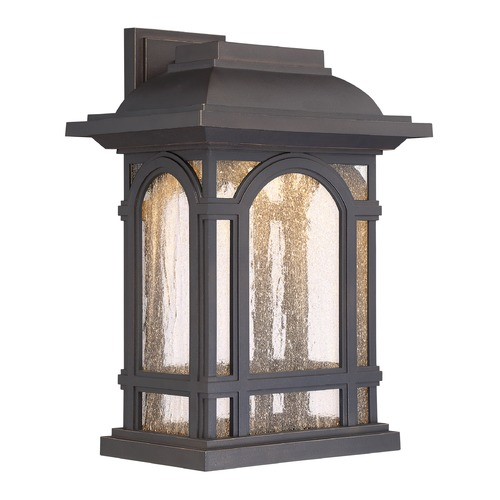 Quoizel Lighting Quoizel Lighting Cathedral LED Palladian Bronze Outdoor Wall Light CATL8411PN