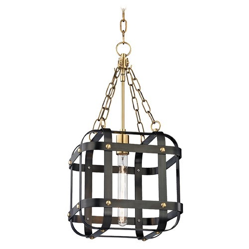 Hudson Valley Lighting Hudson Valley Lighting Colchester Aged Old Bronze Pendant Light with Square Shade 6912-AOB
