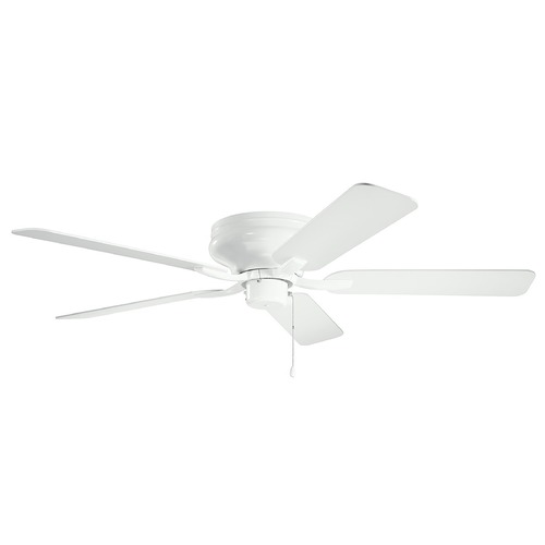 Kichler Lighting Basics Pro Legacy White 52-Inch Ceiling Fan without Light 330020WH