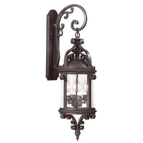 Troy Lighting Outdoor Wall Light with Clear Glass in Old Bronze Finish BCD9122OBZ