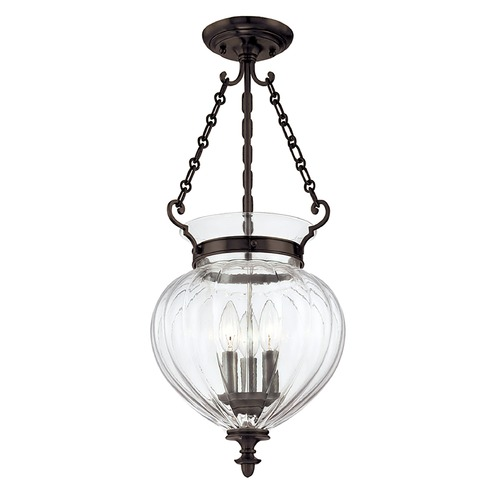 Hudson Valley Lighting Semi-Flushmount Light with Clear Glass in Old Bronze Finish 782-OB