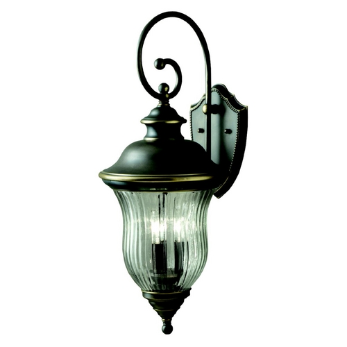 Kichler Lighting Kichler Outdoor Wall Light with Clear Glass in Olde Bronze Finish 9492OZ
