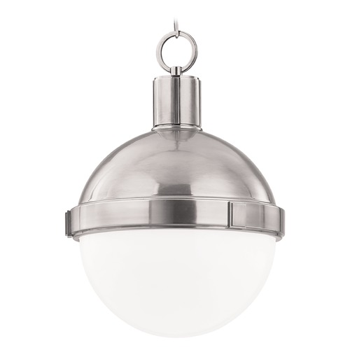 Hudson Valley Lighting Pendant Light with White Glass in Satin Nickel Finish 615-SN