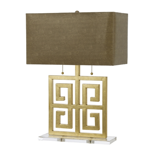 AF Lighting Modern Table Lamp with Beige / Cream Shades in Gold Finish 8463-TL