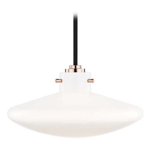 Mitzi by Hudson Valley Industrial LED Mini-Pendant Light Copper Mitzi Nemo by Hudson Valley H128701C-POC