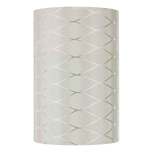 Design Classics Lighting Uno Cylindrical Off White Diamond Overlay Lamp Shade SH9665