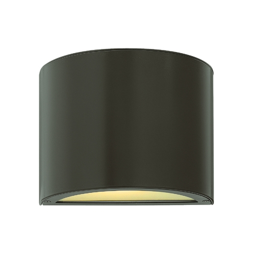 Hinkley Lighting Modern LED Outdoor Wall Light with Etched in Bronze Finish 1667BZ-LED
