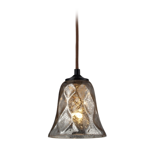 Elk Lighting Mini-Pendant Light with Brown Glass 46000/1-LA