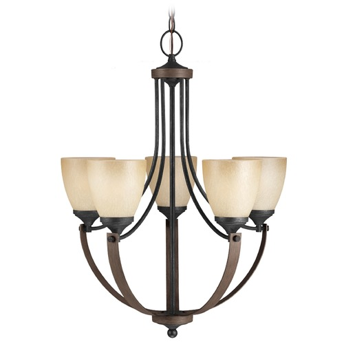 Sea Gull Lighting Sea Gull Lighting Corbeille Stardust / Cerused Oak Chandelier 3180405-846