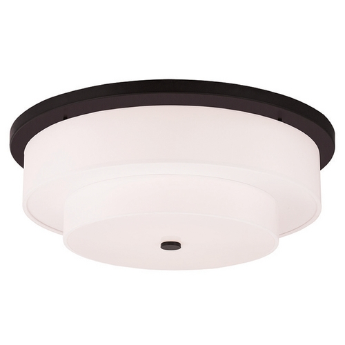 Livex Lighting Livex Lighting Meridian Bronze Flushmount Light 50867-07