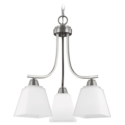 Sea Gull Lighting Sea Gull Lighting Parkfield Brushed Nickel Mini-Chandelier 3213003-962