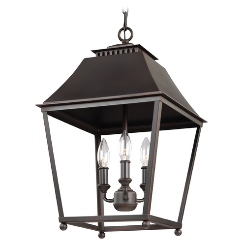 Feiss Lighting Feiss Lighting Galloway Dark Antique Copper / Antique Copper Pendant Light F3089/3DAC/AC