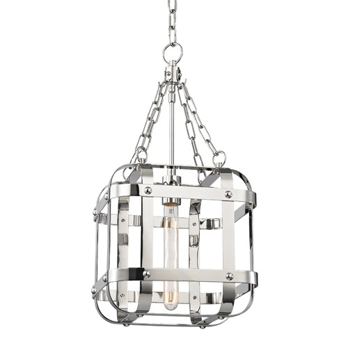 Hudson Valley Lighting Hudson Valley Lighting Colchester Polished Nickel Pendant Light with Square Shade 6912-PN