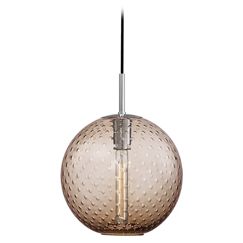 Hudson Valley Lighting Hudson Valley Lighting Rousseau Polished Chrome Pendant Light with Globe Shade 2010-PC-BZ