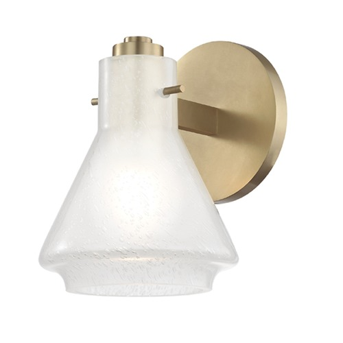 Hudson Valley Lighting Mid-Century Modern Sconce Brass Mitzi Rosie by Hudson Valley H129301-AGB