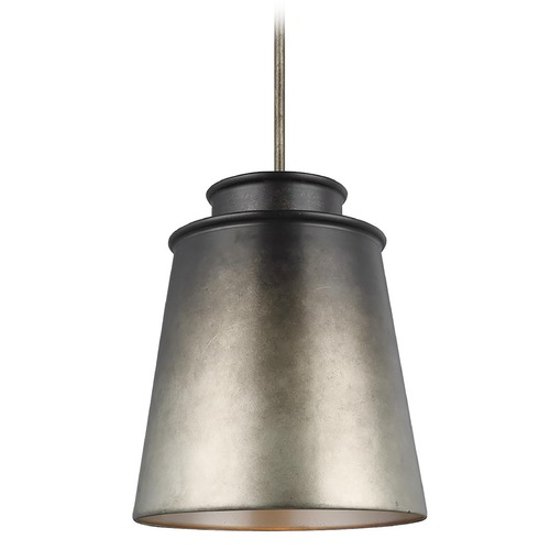 Feiss Lighting Feiss Lighting Fiona Oil Can Grey Pendant Light with Empire Shade P1487OCG