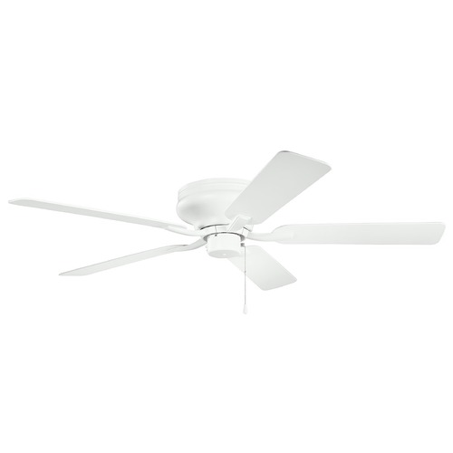 Kichler Lighting Basics Pro Legacy Patio Matte White 52-Inch Ceiling Fan without Light 330021MWH